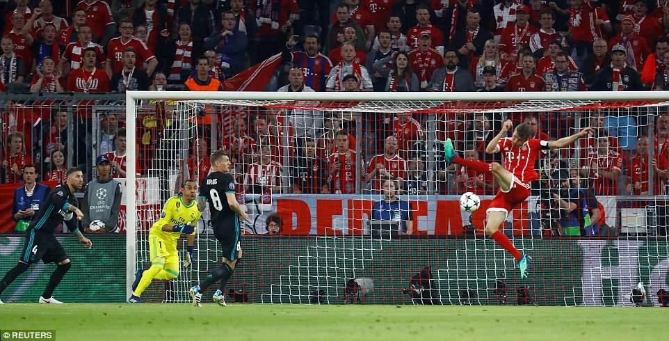 Sao Bayern bỏ lỡ khá nhiều cơ hội
