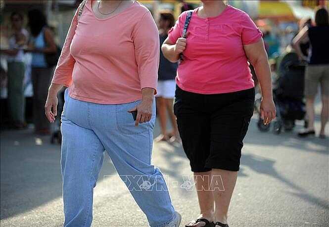 Người mắc bệnh béo phì tại Gaithersburg, Maryland, Mỹ. Ảnh: AFP/TTXVN